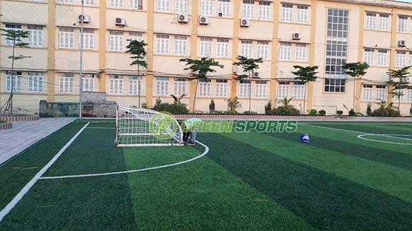 Thi công sân bóng đá mini trường THCS Lộc Bình
