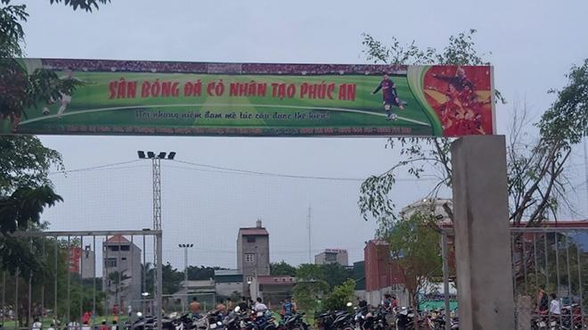 Thi công sân bóng Phúc An - Vĩnh Tường - Vĩnh Phúc